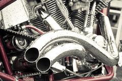 motorcycle chrome - stock photo