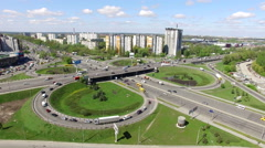 Aerial View Of Road Traffic - stock footage