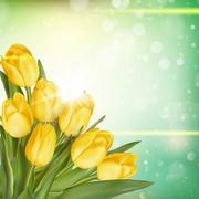 Bouquet of tulips. EPS 10 - stock illustration