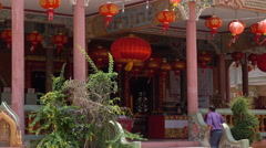 Chinese shrine Stock Footage