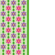 Card with pink and violet flowers and green leaves spring effect - stock illustration
