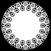 Lace round paper doily, l greeting element package Stock Illustration
