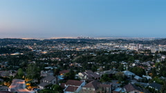 Glendale dawn sunrise time lapse view with zoom near downtown Los Angeles, Ca Stock Footage