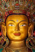 Maitreya Buddha in Thiksey Gompa Stock Photos