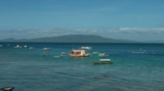 The popular dive tourist hotspot Sabang Beach, Puerto Galera Mindoro Oriental Stock Footage