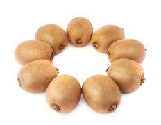 Multiple kiwifruits aligned in circle Kuvituskuvat