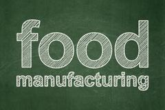 Industry concept: Food Manufacturing on chalkboard background Stock Illustration