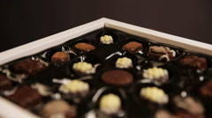 Chocolate candies collection - stock footage