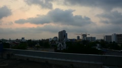 Sunshine morning time and transportation in Bangkok city Thailand, Timelapse Stock Footage