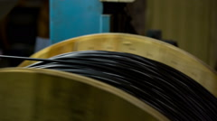 Manufacture of optical cable Stock Footage