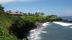 Golf club on the beach. Stock Footage