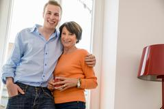 Portrait of mother with grown up son Stock Photos