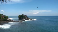 Tanah Lot - the current Hindu temple, one of the main attractions of Bali Stock Footage