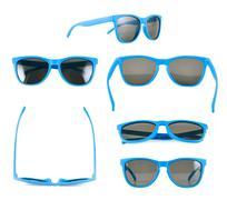 Blue sun glasses isolated Stock Photos