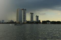 Embankment of Bangkok - stock photo