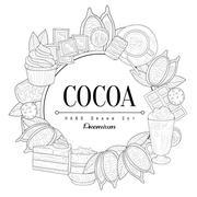 Cocoa Vintage Sketch Stock Illustration