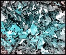 Indicolite corrosion crystals, inverted color, SEM Stock Photos
