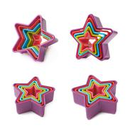 Star shaped baking molds isolated - stock photo