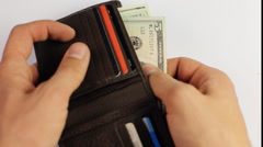 Wallet full of money  Counting money, Seamless loop video of male hands counting Stock Footage