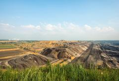 Opencast brown coal mine, Juchen, Germany Stock Photos