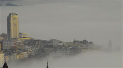 Montreux in clouds Stock Footage