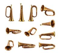 Trumpet musical instrument isolated Stock Photos