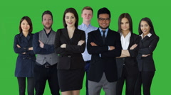 large team of diverse business people standing together representing company - stock footage