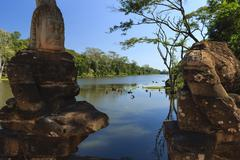 Ruins of Angkor Wat Stock Photos
