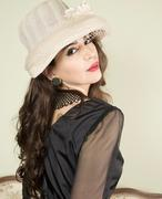 Portrait of woman in vintage clothes Stock Photos
