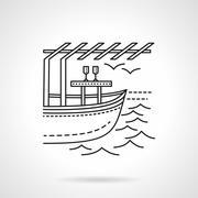 Romantic leisure flat line vector icon Stock Illustration