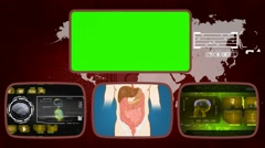 Digestion - Medical Monitor - Advanced Research - World - yellow 01 Stock Footage