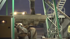 Construction site at night Stock Footage