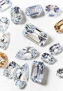 Cubic zirconium made to look like diamonds Stock Photos