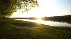 Sunrise on River Stock Footage
