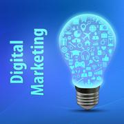 Digital marketing conception. - stock illustration