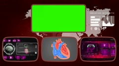 Heart - Medical Monitor - Advanced Research - World - purple 03 - stock footage