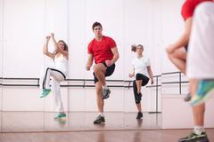 Class training in aerobics Stock Photos