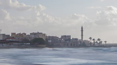 Old Sidon from the Mediterranean Sea Stock Footage