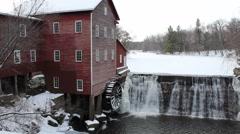 Vintage grain mill Stock Footage
