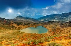 Kalapokhri Lake, Sikkim, Himalayan Mountain Range, Sikkim Stock Photos