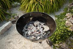 Coal on a BBQ - stock photo