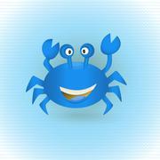 Hand Drawn Blue Crab Stock Illustration