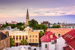 Charleston South Carolina Skyline Kuvituskuvat