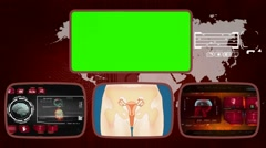 Vagina - Medical Monitor - Advanced Research - World - red 01 - stock footage
