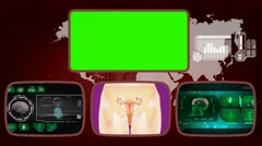 Vagina - Medical Monitor - Advanced Research - World - green 02 - stock footage