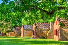Southern Plantation Slave Quarters Stock Photos