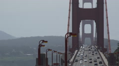 View through bridge from west side Stock Footage