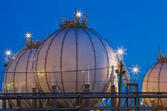 Refinery storage tanks, Montreal, Quebec, Canada Kuvituskuvat