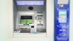 Outdoor Automated Teller Machine Stock Footage