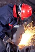 Working in cast iron foundry Stock Photos